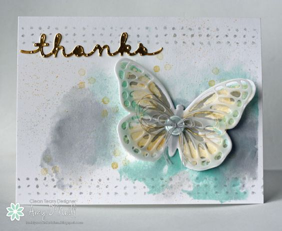 Watercolor Wings Thanks