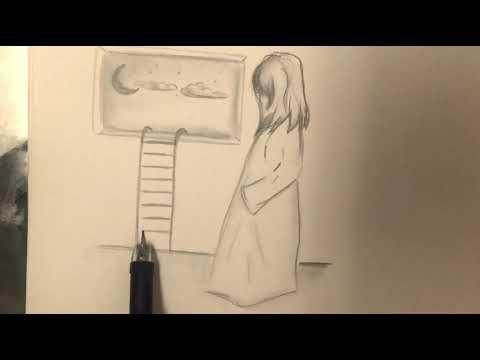 فكرة رسم جديدة لوحات رسم بالرصاص رسم تعبيري رسم سهل حيل رسم Youtube Pencil Drawings Pictures To Draw Female Sketch