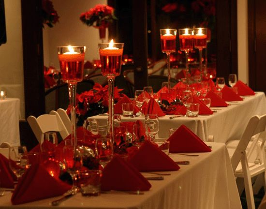Red candle centerpieces
