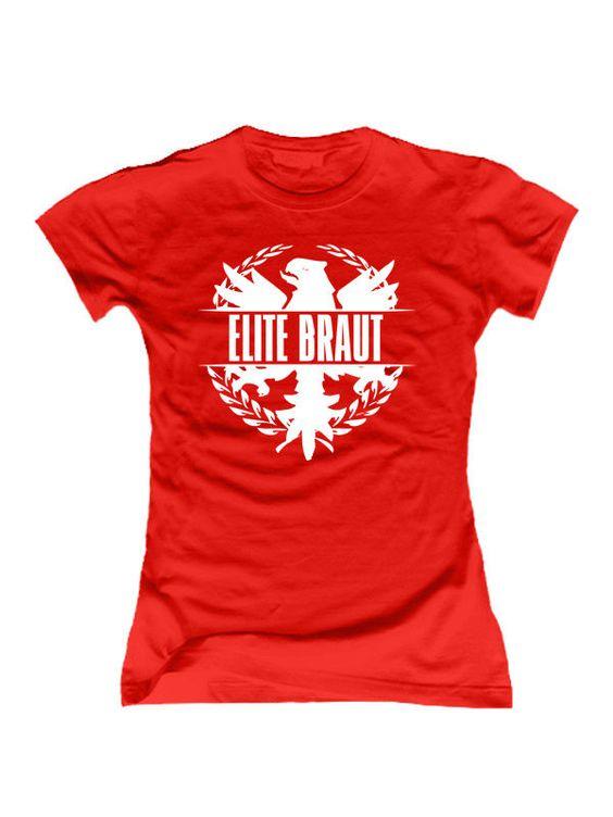 """""""Elite Braut"""" #Shirt für den #Junggesellinnenabschied #JGA #TShirt #bachelorette"""