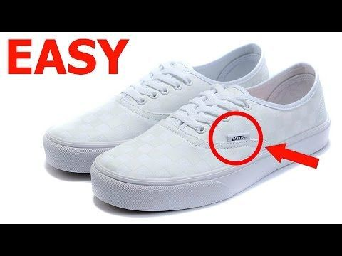 how to clean white vans youtube
