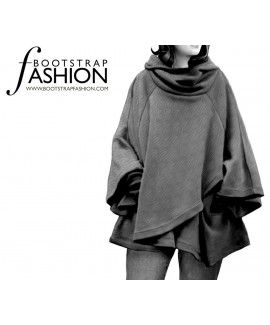 Made To Measure Sewing Patterns - Cape With A Hood