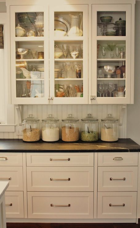 White Dove cabinet color, beadboard backsplash