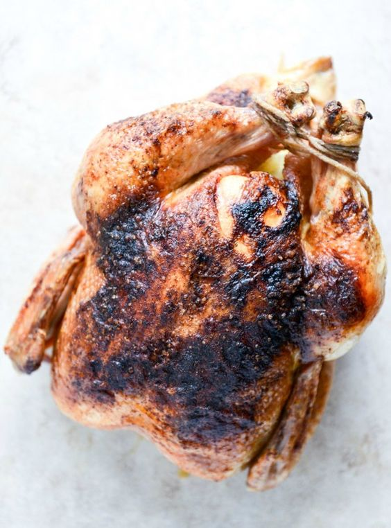 Roasted Chicken with Black Bean + Corn Salad | Whole Roasted Chicken ...