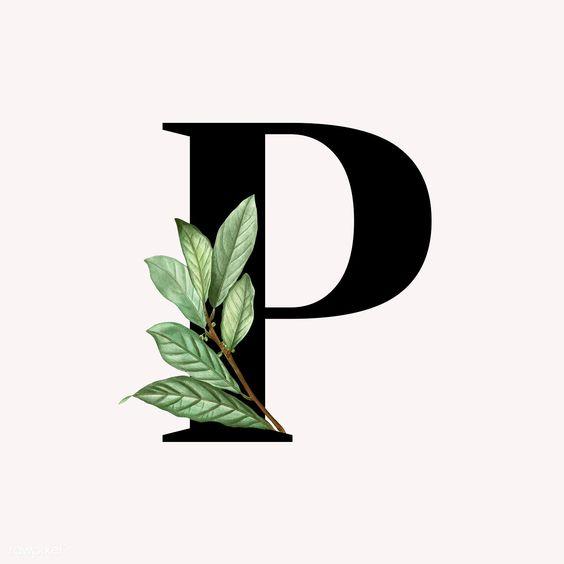 Botanical capital letter P illustration | premium image by rawpixel.com / Aum / Donlaya / Kappy Kappy / manotang