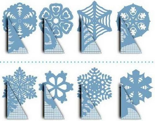 Cut snowflakes out of paper