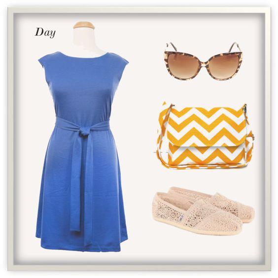 """""""Abbey Dress Day Look"""" #plussize #day #dress #chevron"""