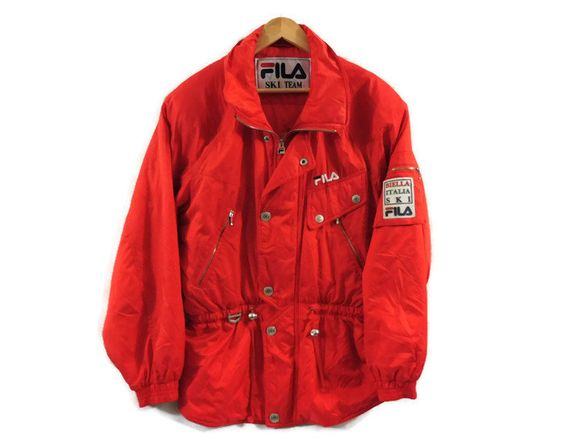 Vintage 90s Fila Ski Jacket Womens Large Fila Italia Biella Italia Ski Snowboarding Jacket Retro Clothing Ski Jacket Women Ski Jacket Retro Outfits