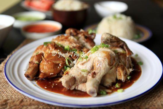 Resep Nasi Ayam Hainan Komplit Dengan 3 Macam Saus Makanan Resep Masakan Indonesia Resep Masakan