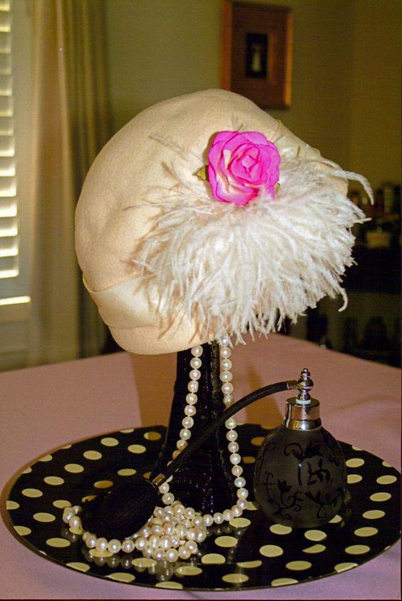 Paris Theme Bridal Shower Table Decorations Vintage Hat