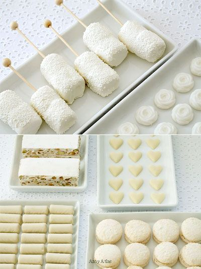 Sugar cookies, dipped marshmallows
