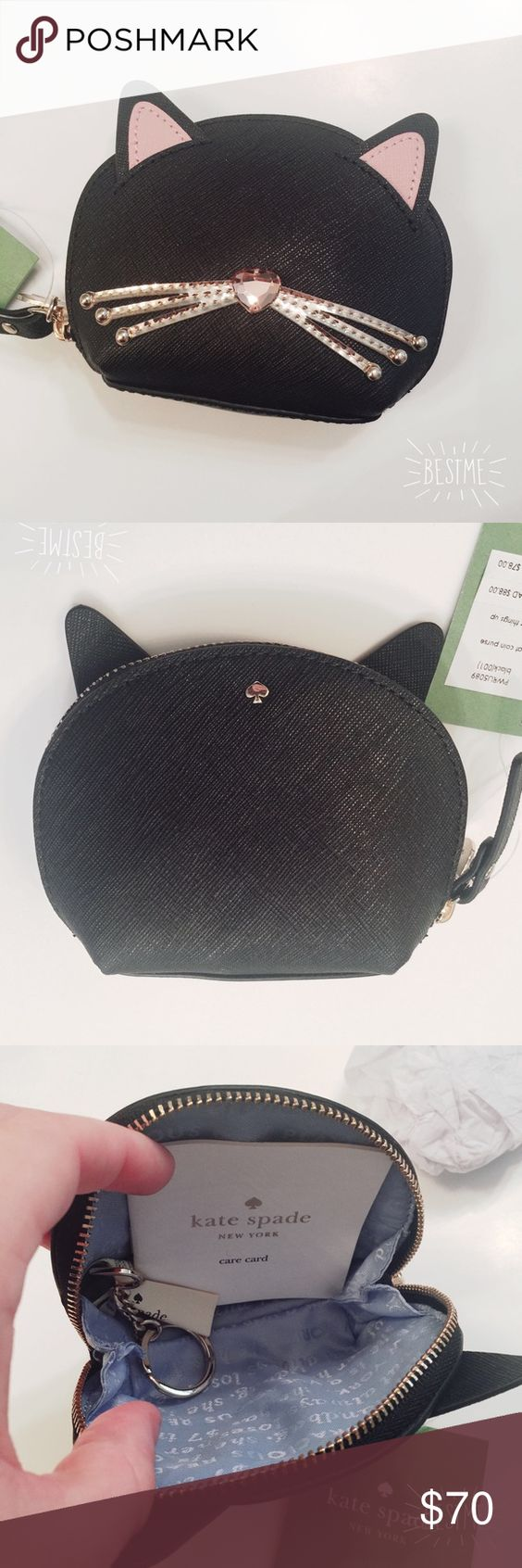 ❌ SOLD! kate spade cat coin purse, BNWT!  kate spade cat coin purse, BNWT!  This item is brand new with tags and comes in original packaging. No trades. kate spade Bags