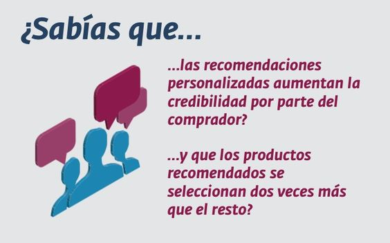 Las recomendaciones personalizadas son cada vez más importantes e influyentes en el proceso de compra online.