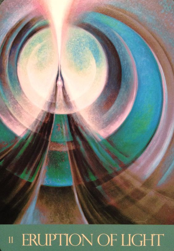 """Daily Angel Oracle Card: Eruption Of Light, from the Journey Of Love Oracle Card deck, by Alana Fairchild, Rassouli and Richard Cohn Eruption Of Light: """"Your every prayer is a power-packed eruption..."""