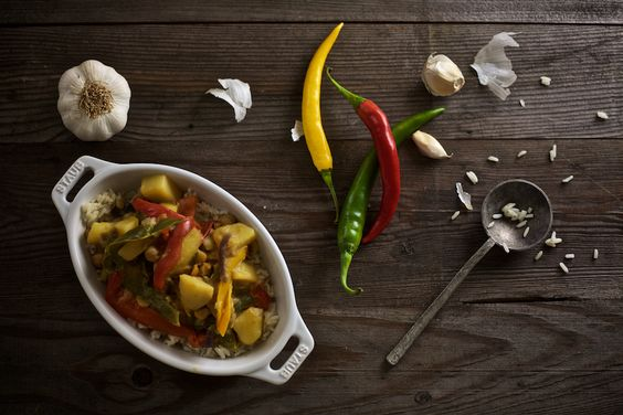 Gute Vorsätze: Gesünder Kochen - Buntes Gemüsecurry. #rezept