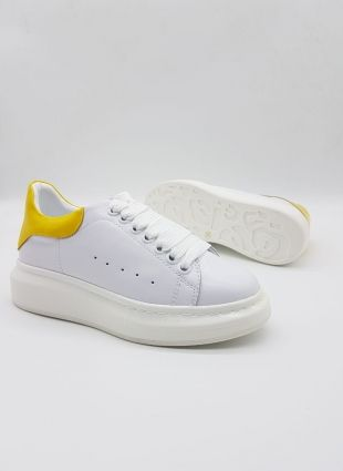Alexander Mcqueen Sneakers White And Yellow Alexander Mcqueen Sneakers Mcqueen Sneakers Sneakers White
