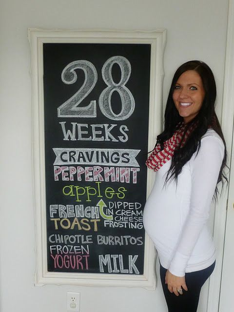 Love the idea to take a photo and change the chalkboard info every week.