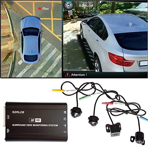 """360° Car Panoramic View System Dashcam DVR Recorder Full View w// 7/"""" LCD Monitor"""