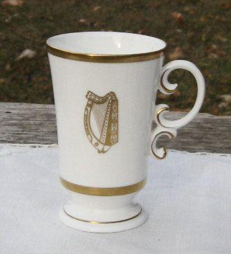 1961 Royal Worcester Bone China Golden Harp Irish by Ambrosines