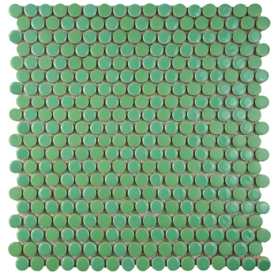SomerTile 12x12-inch Asteroid Penny Round Capri Porcelain Mosaic Floor and Wall Tile (Case of 10) - Overstock™ Shopping - Big Discounts on Somertile Floor Tiles
