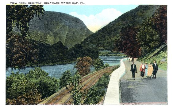 Delaware Water Gap Postcards | Philadelphia Trolley Tracks: Delaware Water Gap postcards