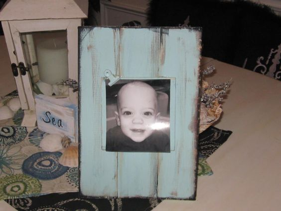 Wooden Slat Frame with clip for photo~ By TheFairydust Treasures
