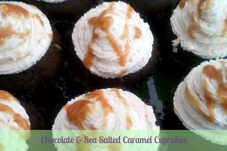 Chocolate & Salted Caramel Cupcakes | Andrea Webb's Portfolio