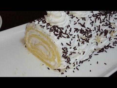 اسهل وانجح كيك رولي بكريمة الشانتيي سهل بسيط سويسرول Youtube Cake Desserts Vanilla Cake