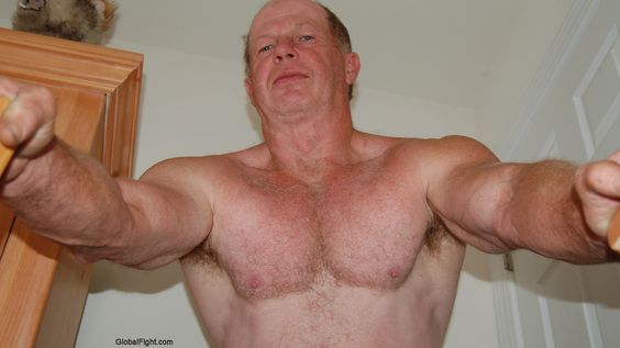 silverdaddy big arms older hot man HD daddie photos