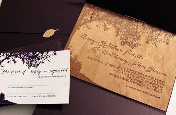 Wood Veneer Wedding Invitation   Laura Dapito – Freelance Graphic Design New Jersey, Englewood, NJ, Website Design Services   Professional Graphic Design