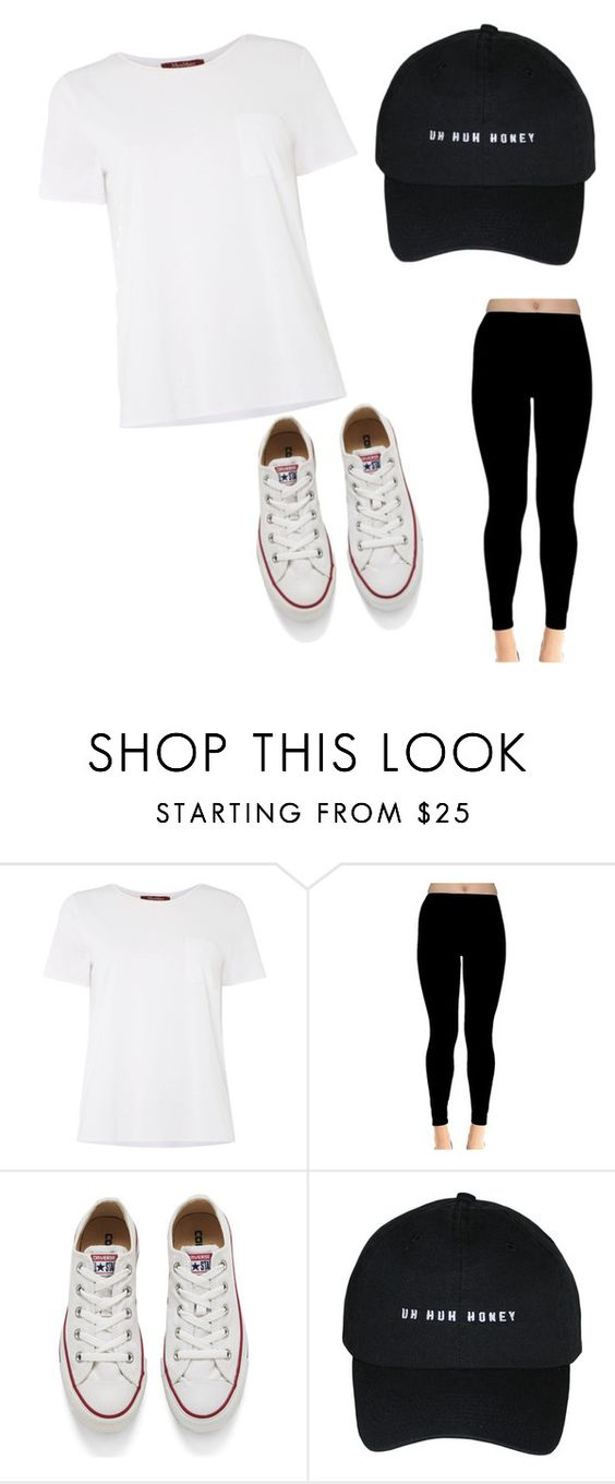 """""""Untitled #2"""" by ashspain ❤ liked on Polyvore featuring MaxMara and Converse"""