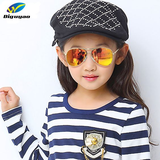 DIGUYAO Fashion Boys Kids Sunglasses Aviator Style Brand Design Children Sun Glasses 100%UV Protection Oculos De Sol Ga