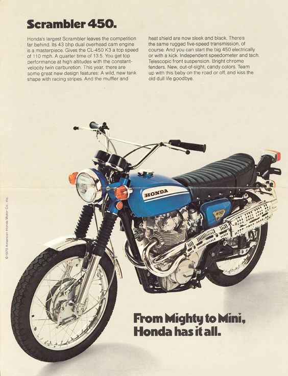 450 Best Fashions Over 40 Spring Summer Edition Images: Honda CL-450 Scrambler....what She Looked Like Before Josh