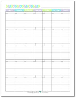 Blank monthly calendar monthly calendars and calendar for Month at a glance blank calendar template