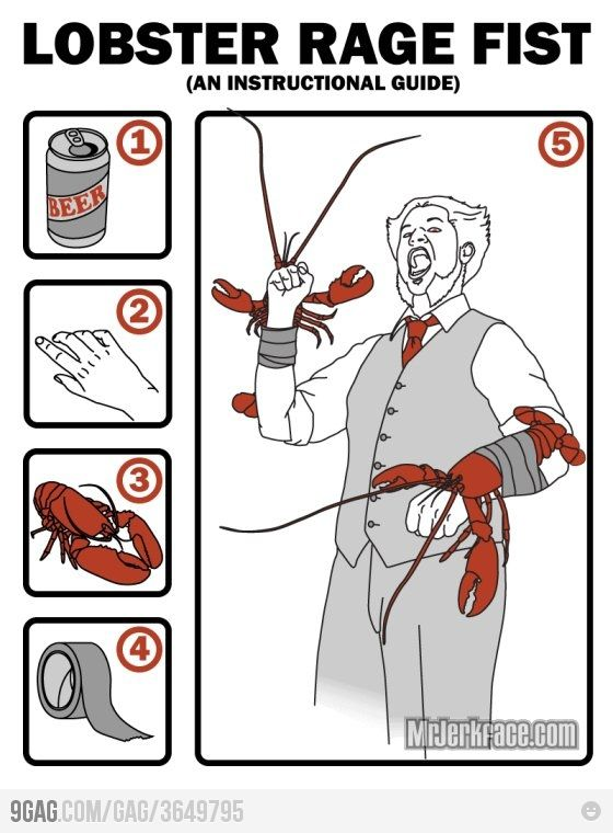 Lobster Fists - Ian and I should have done this at red lobster last night