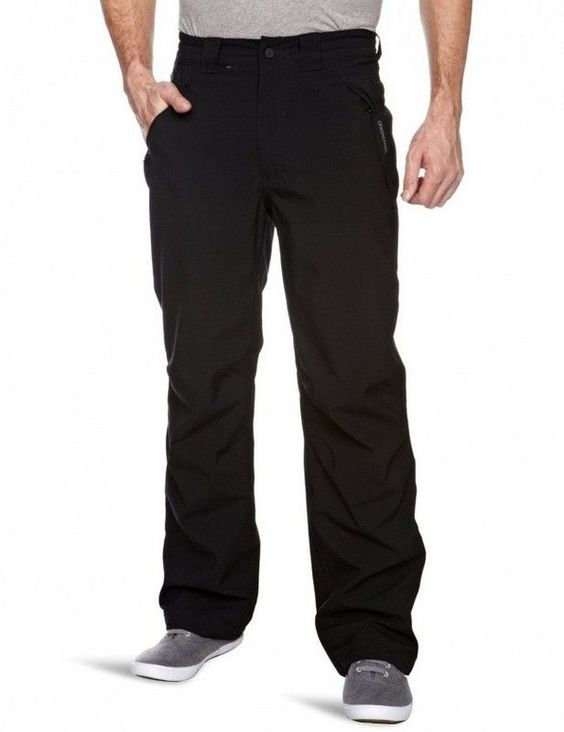 Craghoppers Stefan Trousers AquaDry membrane polyester with polyester elastane mash lining 3 zipped pockets part elasticated waist at sides.