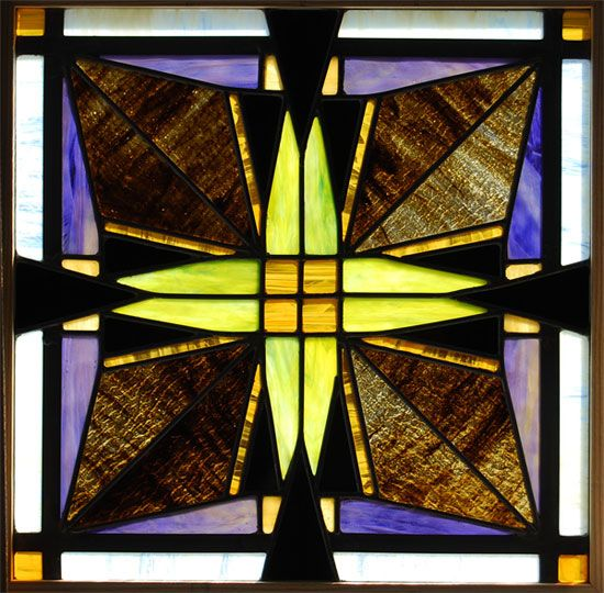Prairie Style Stained Glass Window Craftsman Style