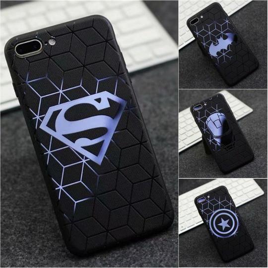 Comic Captain Superman Bat Cartoon Case for iphone 8 7 plus 7plus ...