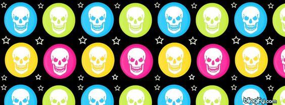 Skulls  stars and polka dots