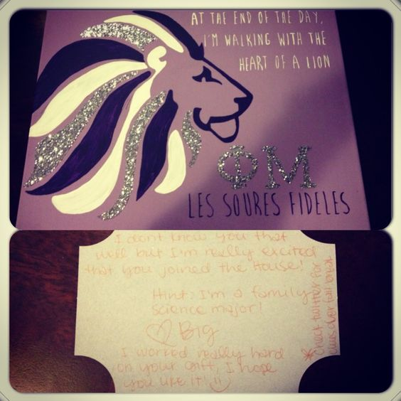 The gift I got on my second day of no little clues from my mystery big!!!! Can't wait to find out who it is!!!!#ΦΜ