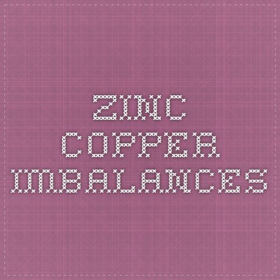 Zinc-Copper Imbalances