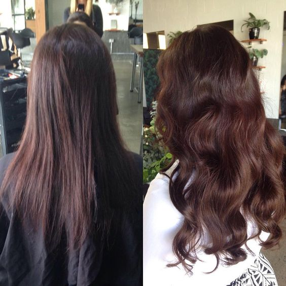 Lovely brown hair