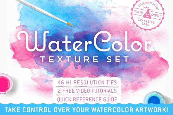 Watercolor Texture Pack By Go Faster Labs On Creativemarket