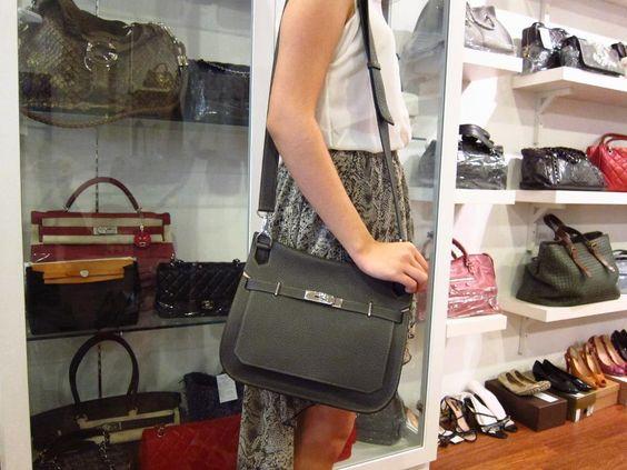 crocodile hermes bag - Glampot @ 10 Boulevard Hermes Jypsiere 28 Bicolour Graphite and ...