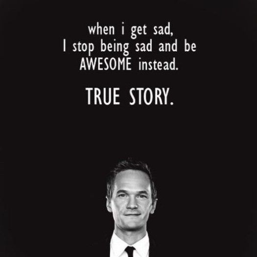 Wise words from Barney.