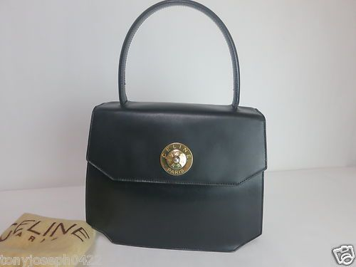 Vintage Celine Paris Handbag Used Made in Italy, great architecture