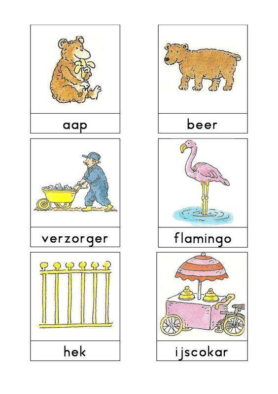 Woordkaarten Bas 'De dierentuin' 1
