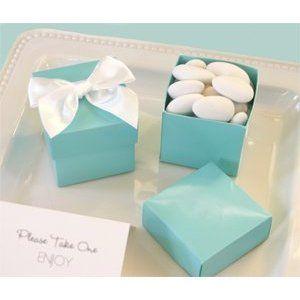 Amazon.com: Mini Cube Boxes - Aqua Blue (Set of 144) - Baby Shower Gifts & Wedding Favors: Baby