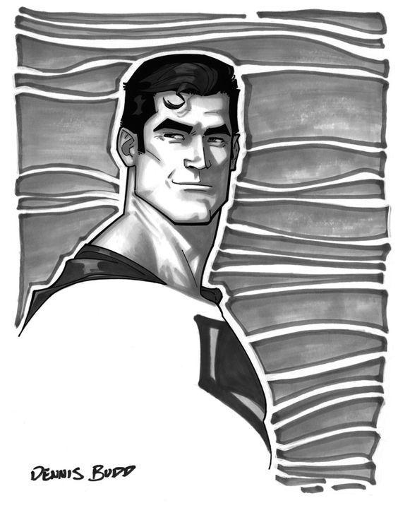 convention sketch 01 Superman by DennisBudd on deviantART