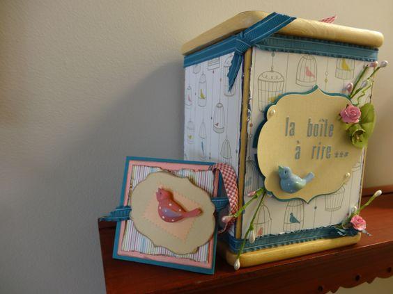 La boîte à rire faite par Josée de Scrapbook à la carte, Mirabel scrapbookalacarte@hotmail.com www.scrapbookalacarte.ca
